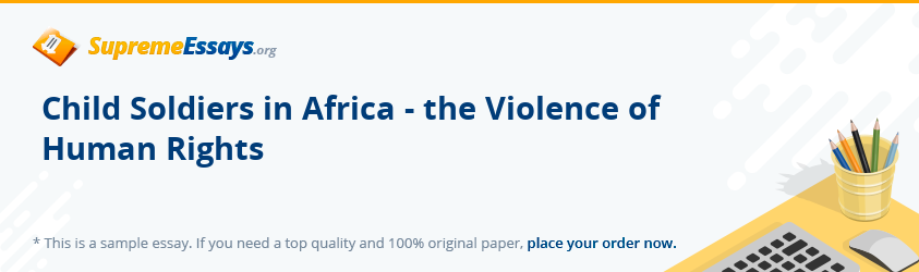 essay about child soldiers in africa