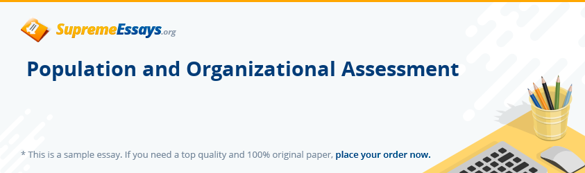 Population and Organizational Assessment
