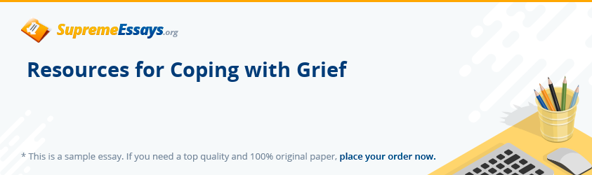Resources for Coping with Grief