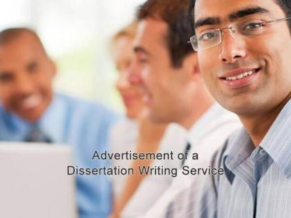 Advertisement of a Dissertation Writing Service